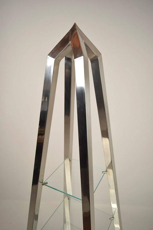 single aluminum etagere for sale at 1stdibs. Black Bedroom Furniture Sets. Home Design Ideas