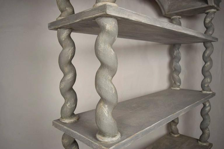 Italian Baroque Carved Wood Etagere For Sale 2