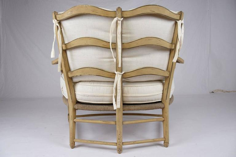 Wood  Pair of French Provincial Settees For Sale