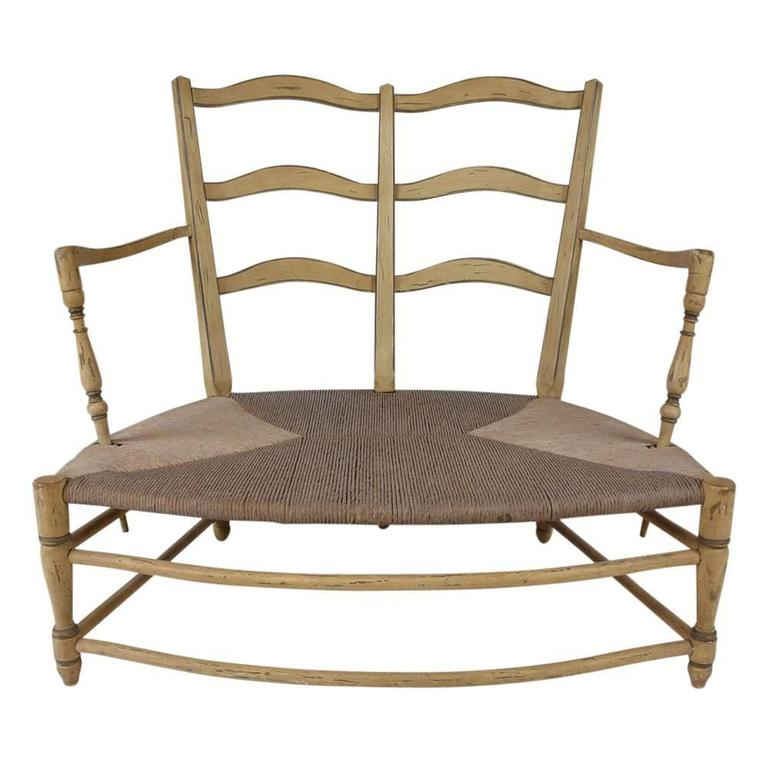 Pair of French Provincial Settees In Excellent Condition For Sale In Los Angeles, CA