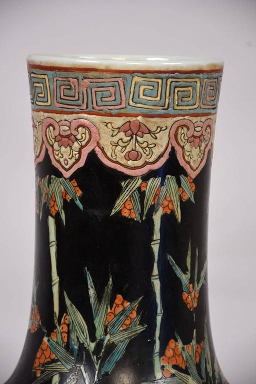 Large Oriental Porcelain Vase For Sale 1
