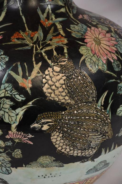 20th Century Large Oriental Porcelain Vase For Sale