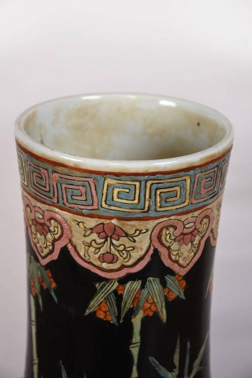 Large Oriental Porcelain Vase For Sale 2