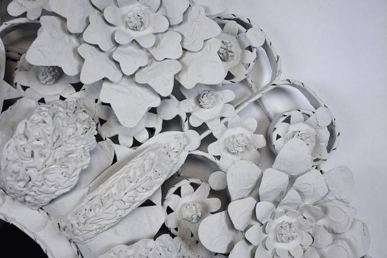 American  Arte de Mexico Painted Floral Tole Mirror For Sale