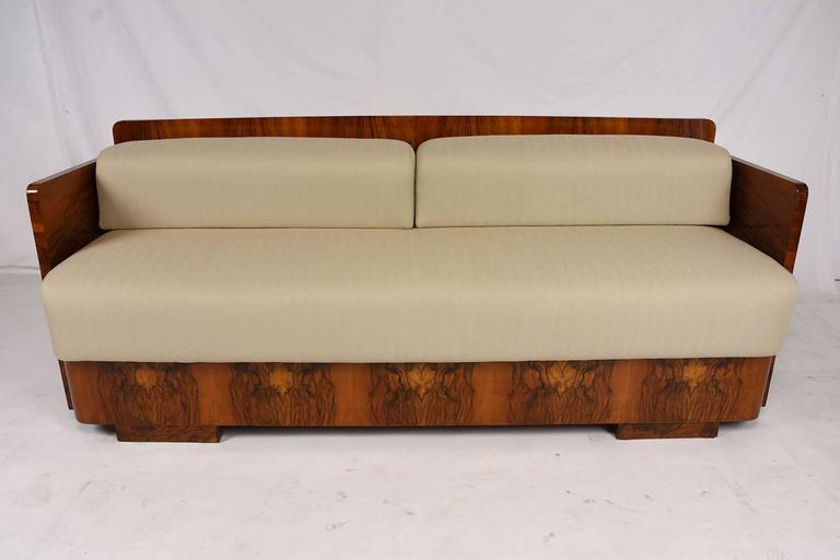 Lacquered French Art Deco Style Sofa Bed For