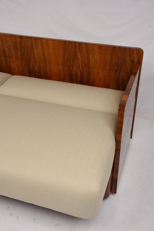 French art deco style sofa bed at 1stdibs for Art deco style sofa