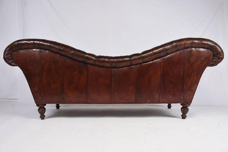 Vintage Chesterfield Tufted Leather Sofa 9