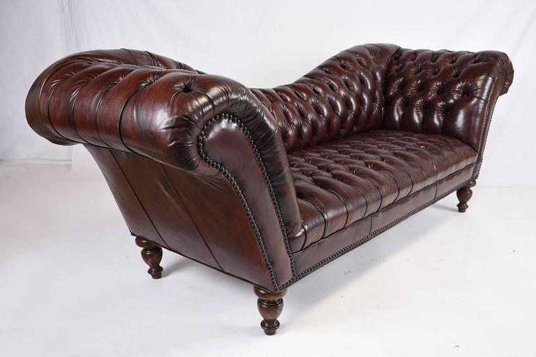 Vintage Chesterfield Tufted Leather Sofa 2