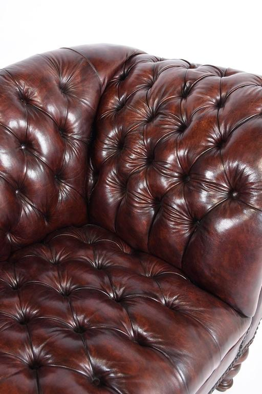 Vintage Chesterfield Tufted Leather Sofa 7