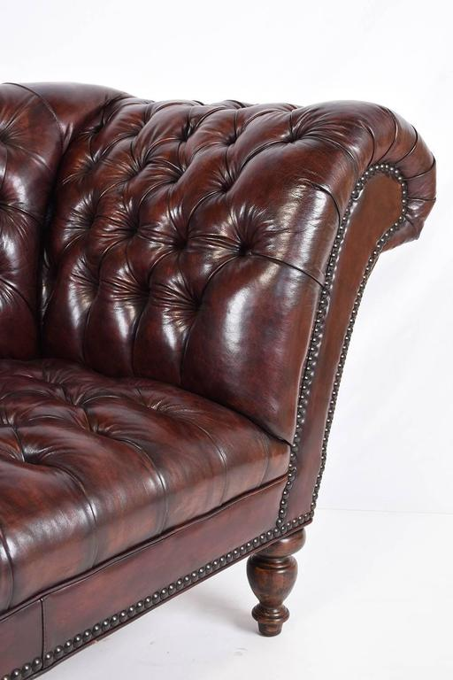 Vintage Chesterfield Tufted Leather Sofa 8
