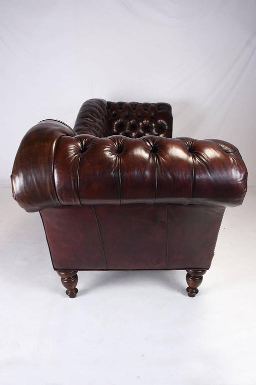 Vintage Chesterfield Tufted Leather Sofa 4