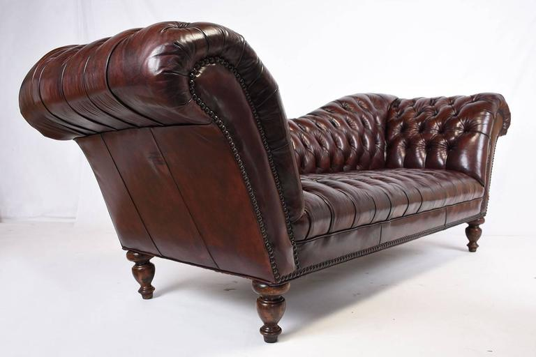 Vintage Chesterfield Tufted Leather Sofa 3