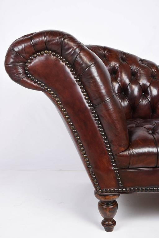 Vintage Chesterfield Tufted Leather Sofa 5