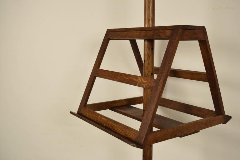 Other Antique French Solid Oak Wood Duet Music Stand For Sale