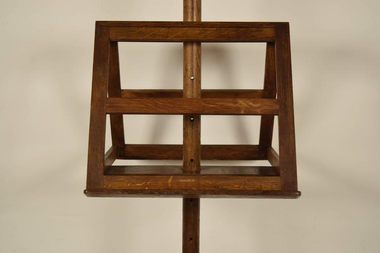 European Antique French Solid Oak Wood Duet Music Stand For Sale