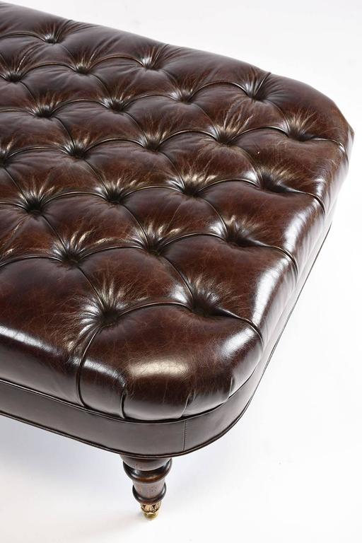Vintage tufted leather chesterfield style chaise longue for Decor jewelry chesterfield