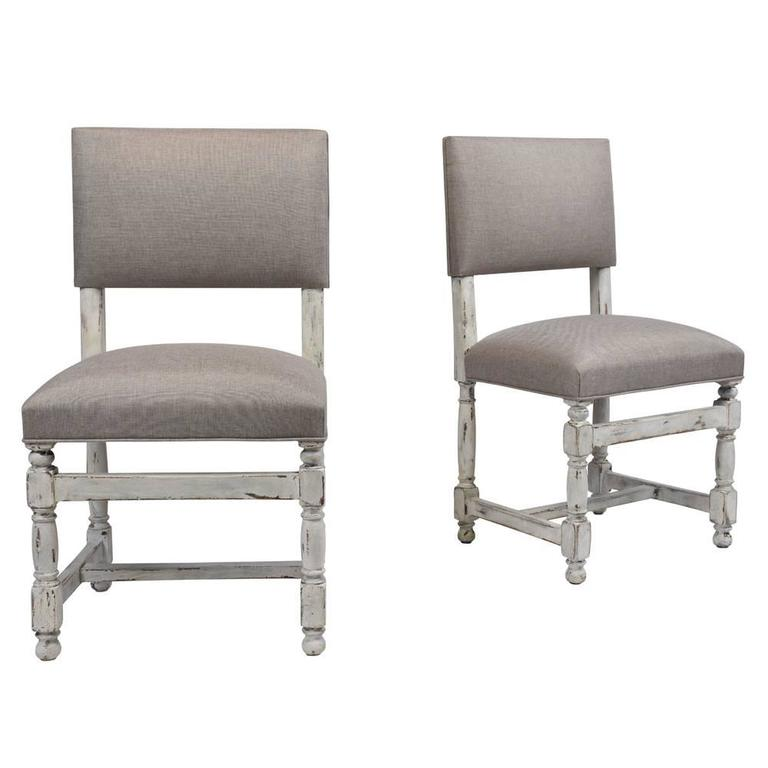 Set of ten baroque style painted dining chairs for sale at for Baroque style dining chairs