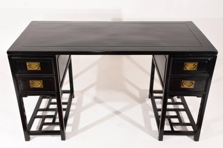Vintage Chinese Ebonized Desk For Sale At 1stdibs