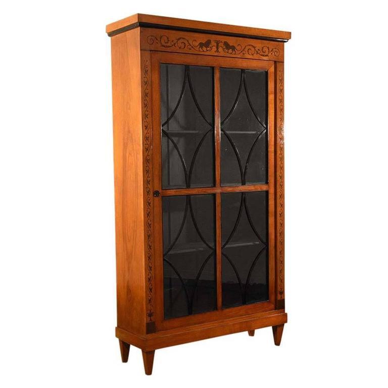 Antique Biedermeier Style Bookcase For Sale At 1stdibs