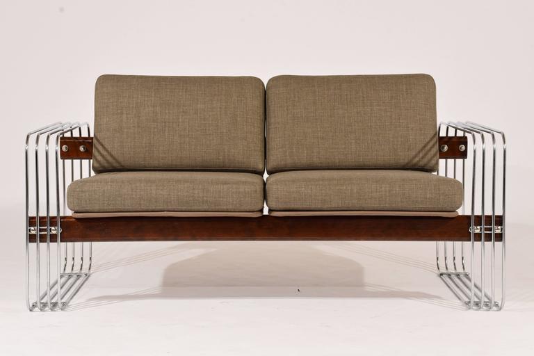 Mid-Century Modern Ascona Sofa by Heinz Meier for Landes For Sale