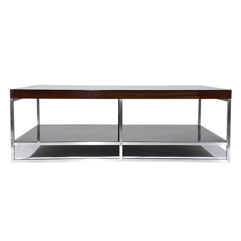Macassar Ebony Coffee Table By Minotti For Sale At 1stdibs