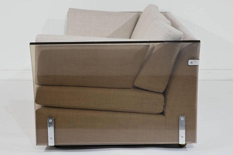 20th Century Mid-Century Modern Milo Baughman Lucite Side Sofa For Sale