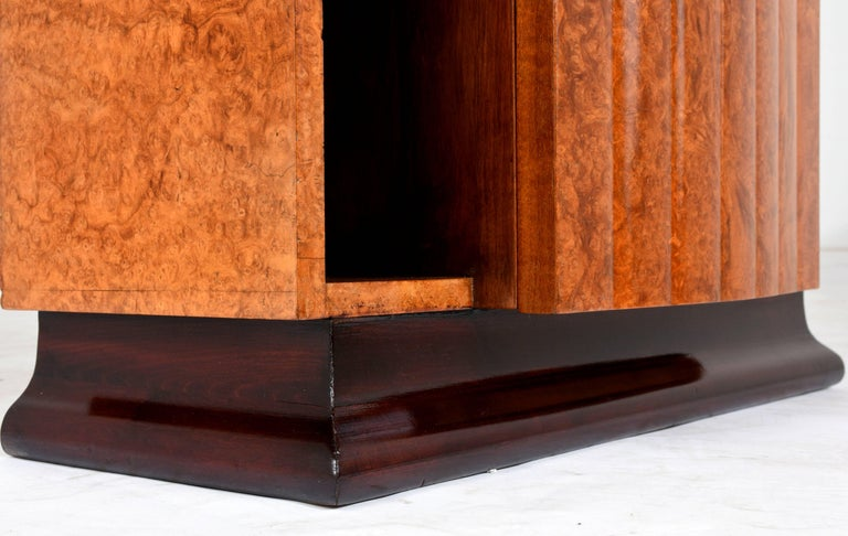 Black Nightstand With Hidden Drawer