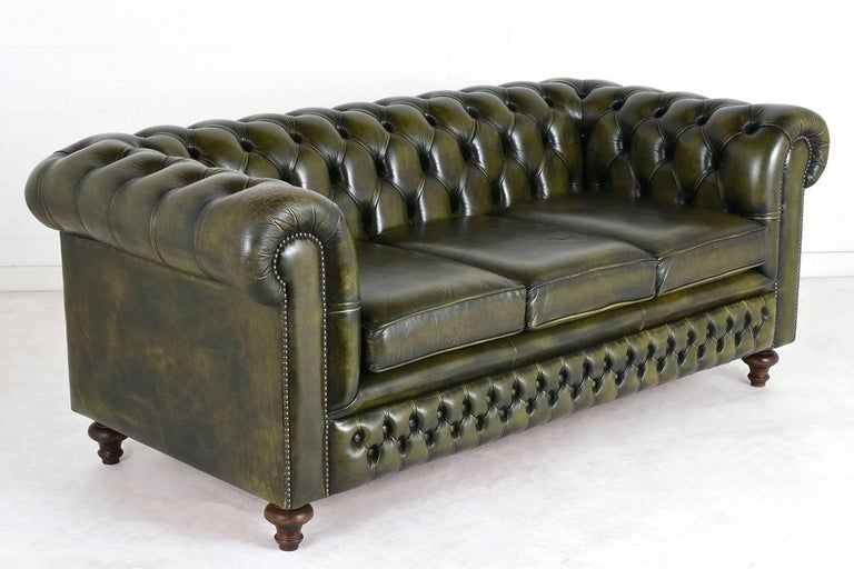 vintage chesterfield style sofa at 1stdibs. Black Bedroom Furniture Sets. Home Design Ideas