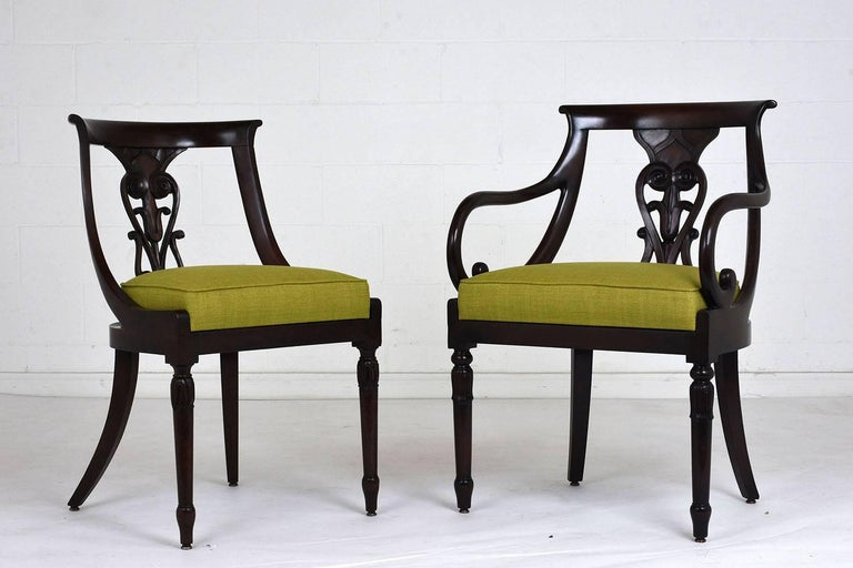 Hand-Carved Set of Four Hollywood Regency Chairs For Sale