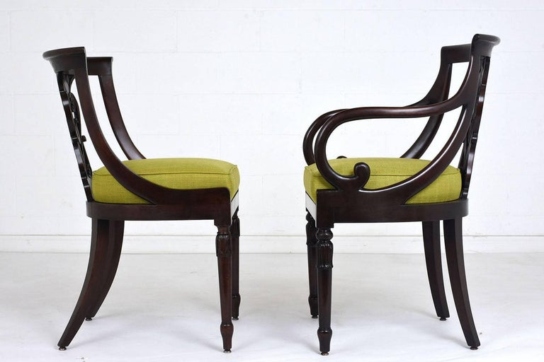 Fabric Set of Four Hollywood Regency Chairs For Sale