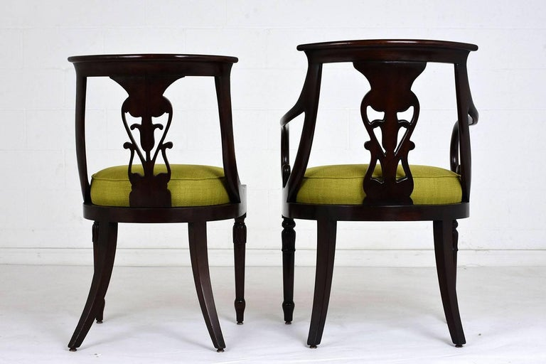 Set of Four Hollywood Regency Chairs For Sale 1
