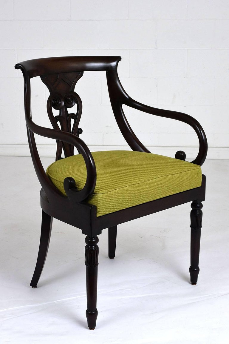 Set of Four Hollywood Regency Chairs In Good Condition For Sale In Los Angeles, CA