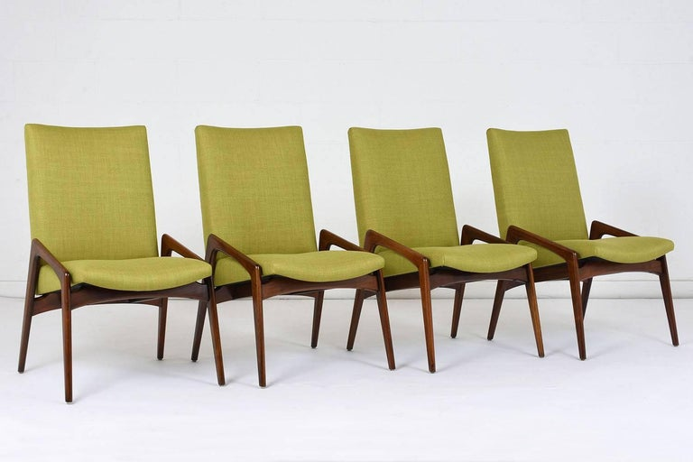 Mid-Century Modern Set of Four Dining Chairs by Kai Kristiansen For Sale