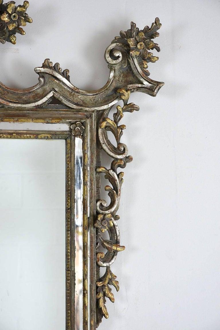 Late 19th century italian baroque style wall mirror for for Baroque style wall mirror