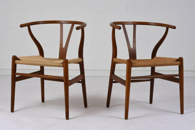 Carved Set of Four Midcentury Danish Dining Chairs For Sale