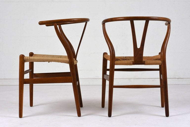 Set of Four Midcentury Danish Dining Chairs In Excellent Condition For Sale In Los Angeles, CA