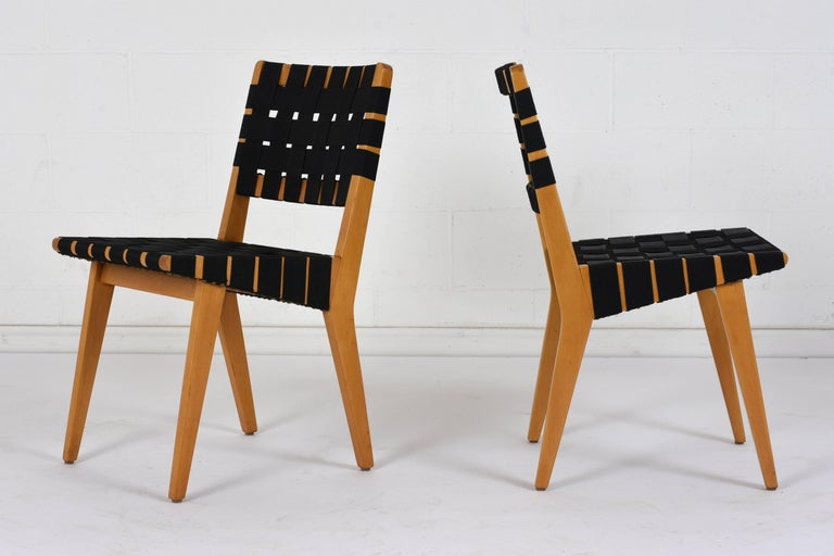 Carved Set of Four Mid-Century Modern Klaus Grabe-Style Dining Chairs For Sale