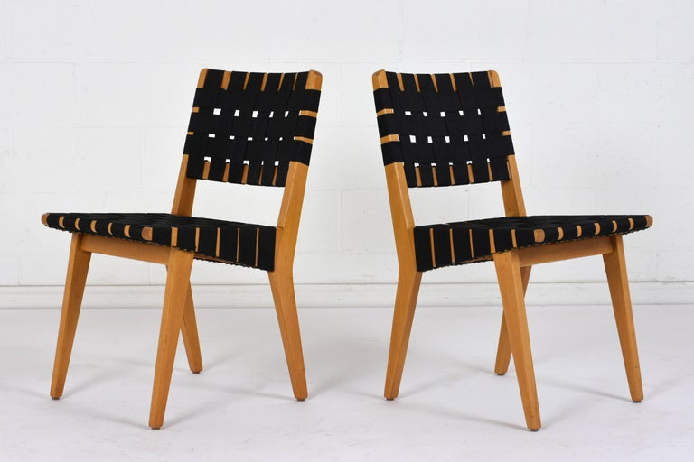 Set of Four Mid-Century Modern Klaus Grabe-Style Dining Chairs In Excellent Condition For Sale In Los Angeles, CA