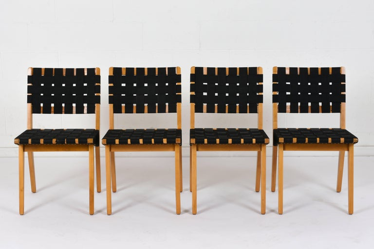 American Set of Four Mid-Century Modern Klaus Grabe-Style Dining Chairs For Sale