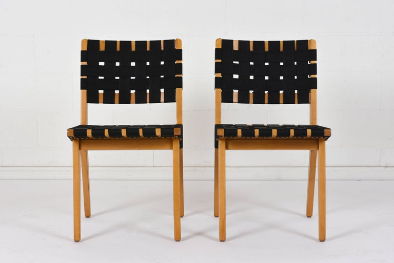 20th Century Set of Four Mid-Century Modern Klaus Grabe-Style Dining Chairs For Sale