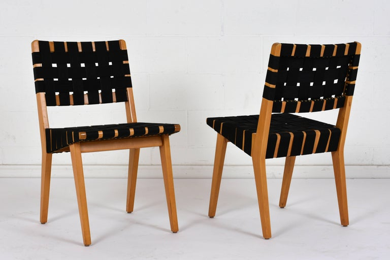 Wood Set of Four Mid-Century Modern Klaus Grabe-Style Dining Chairs For Sale