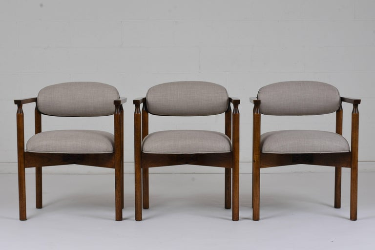 Mid-Century Modern Set of Six Midcentury Dining Chairs For Sale