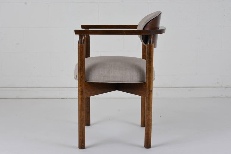 Set of Six Midcentury Dining Chairs In Excellent Condition For Sale In Los Angeles, CA