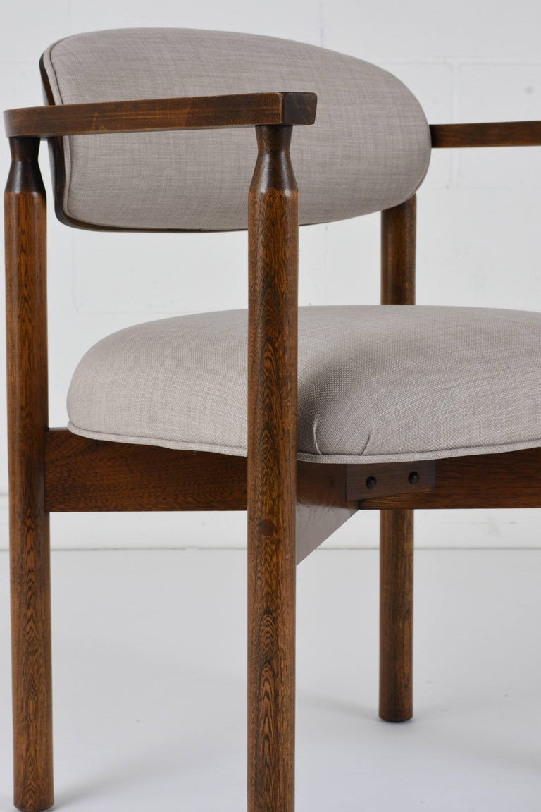 Set of Six Midcentury Dining Chairs For Sale 1