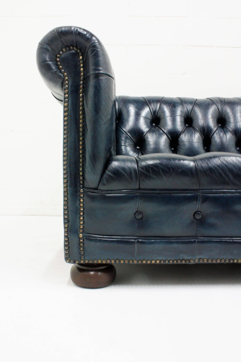 Chesterfield-Style Leather Sofa In Excellent Condition For Sale In Los Angeles, CA