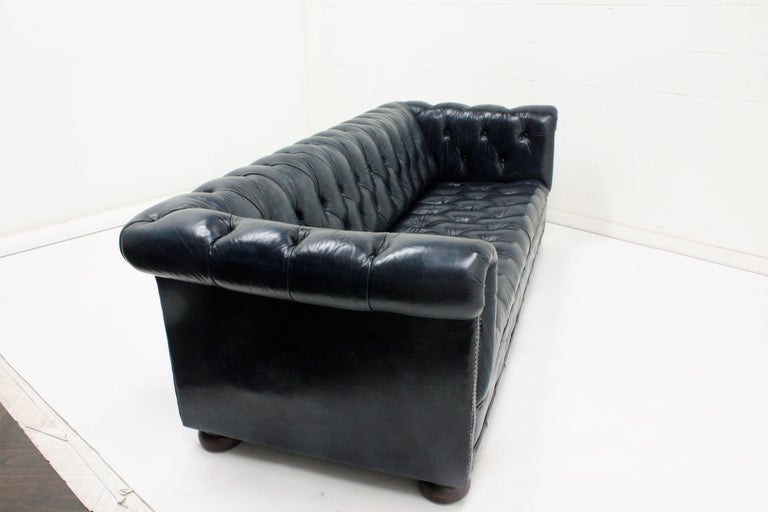 Chesterfield-Style Leather Sofa For Sale 1