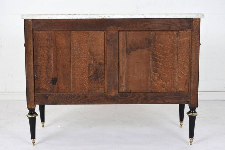 Antique French Louis XVI-Style Ebonized Chest of Drawers For Sale 2