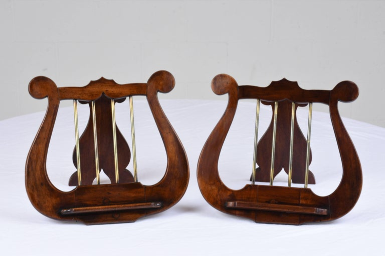 pair of antique english lyre music stands for sale at 1stdibs. Black Bedroom Furniture Sets. Home Design Ideas