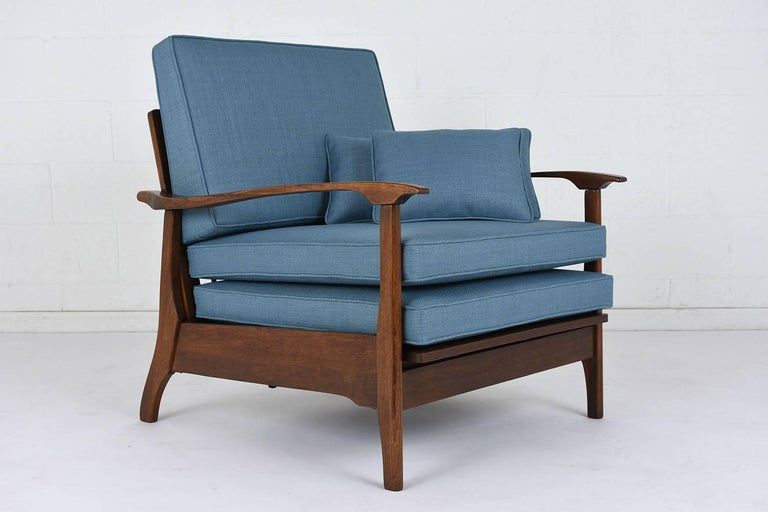 American Mid-Century Modern Reclining Lounge Chair For Sale