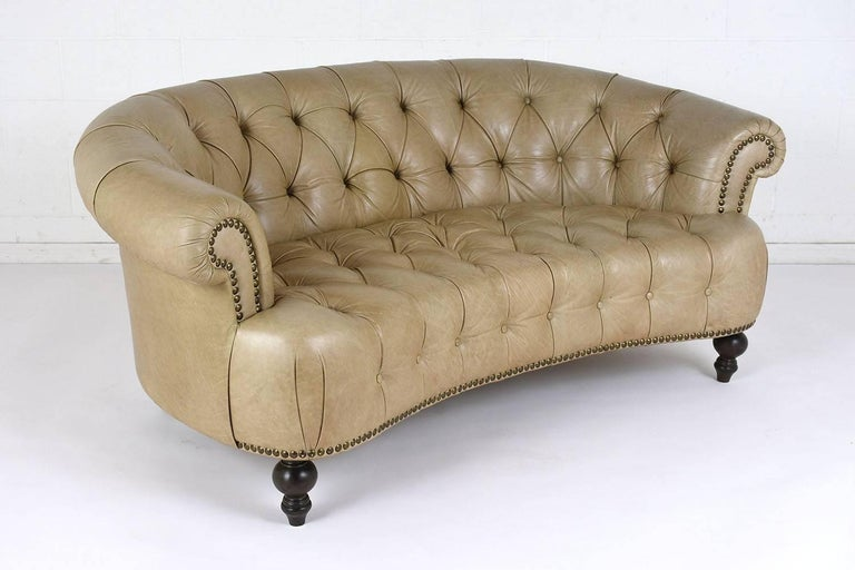 Vintage chesterfield style tufted leather sofa for sale at for Decor jewelry chesterfield